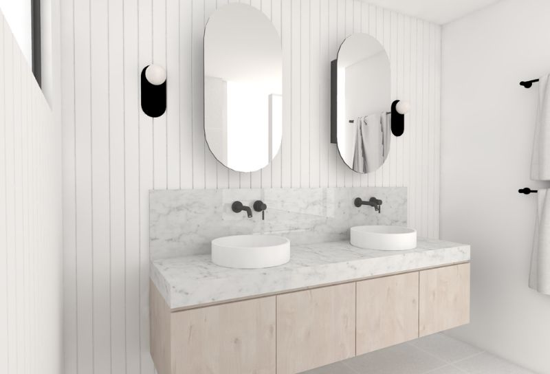 How To Use Vj Paneling In Your Bathroom Savannah Denny Interiors